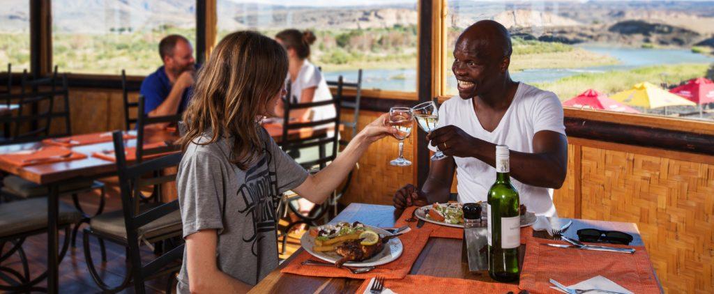 Accommodation southern namibiafelix unite orange river for Felix s fish camp restaurant